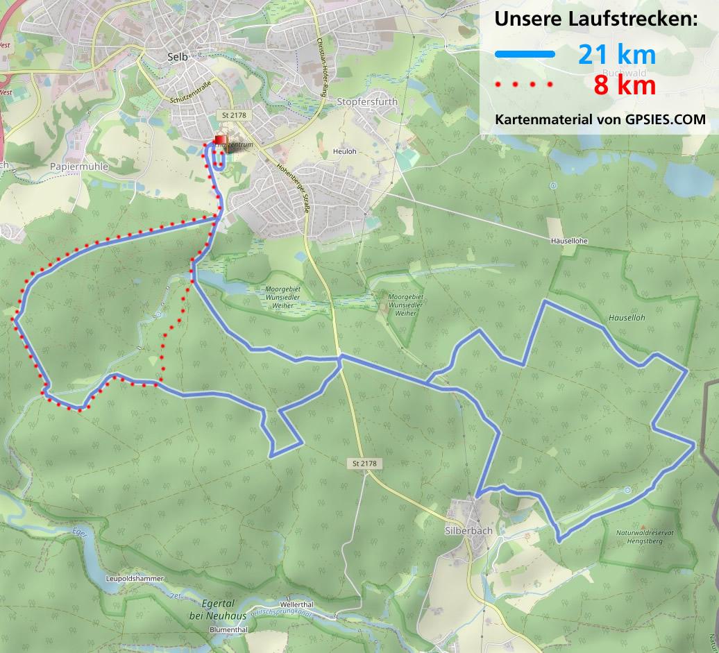Gpsies Karte.Laufstrecken Hutschenreuther Laufgruppe E V